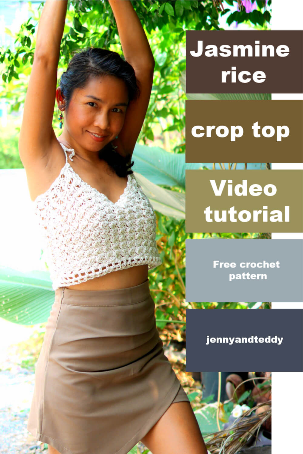 jasmine rice crochet crop top free pattern
