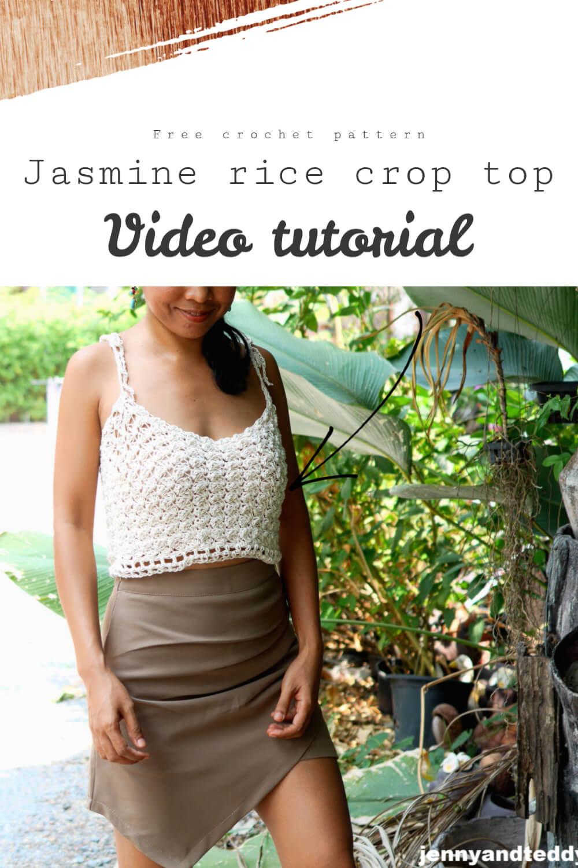 jasmine rice crop top crochet tutorial