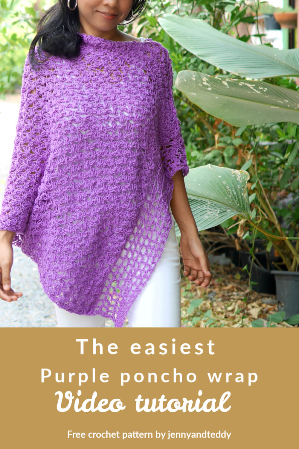 simple crochet poncho wrap free pattern