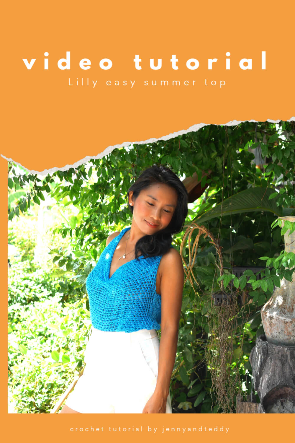 lilly easy summer crochet top free pattern