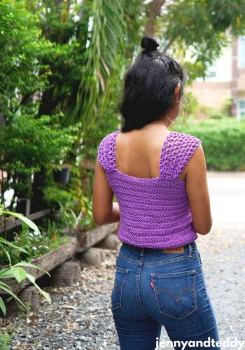 easy crochet crop top