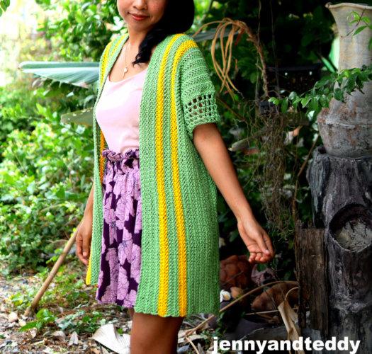 the holliday poncho cardigan free crochet pattern