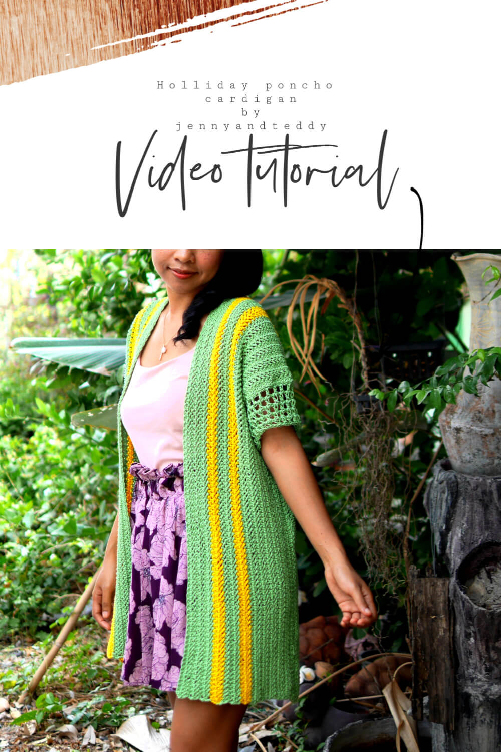 easy crochet how to poncho cardigan free pattern