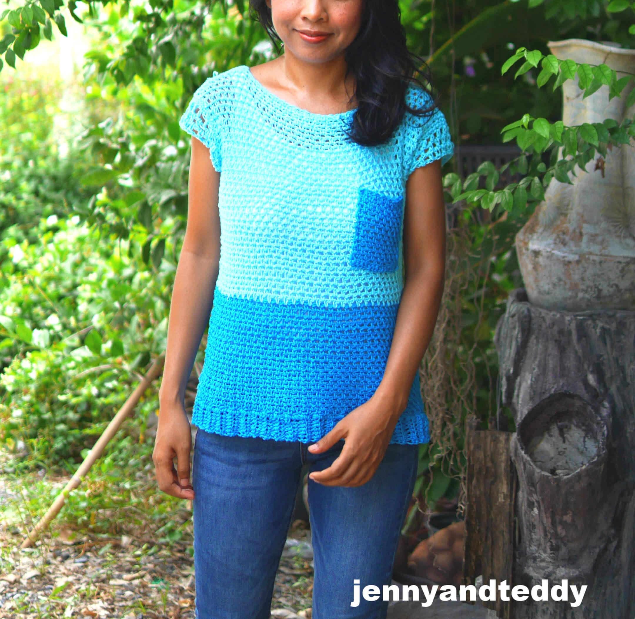 easy crochet tank top free pattern