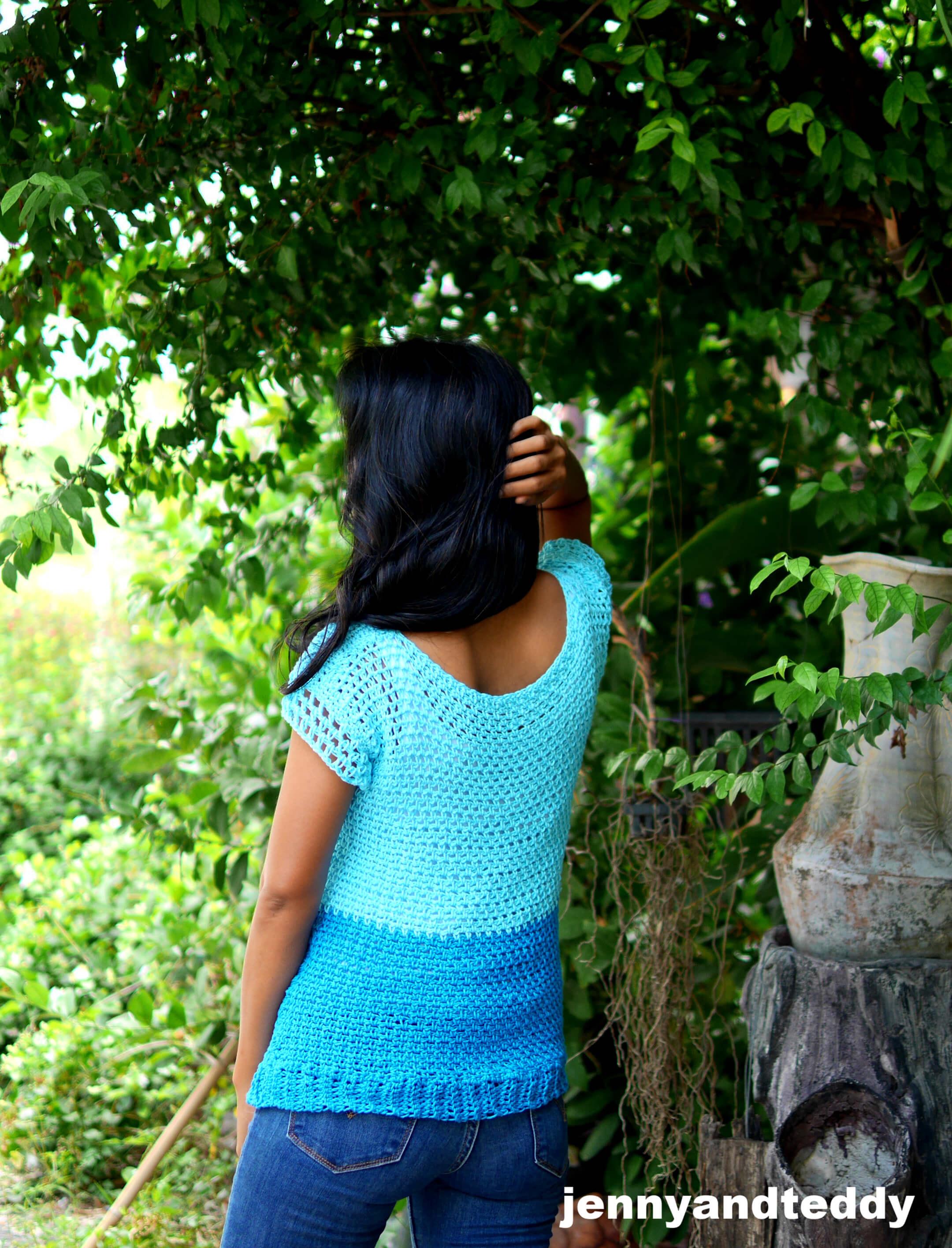everyday crochet top tee free tutorial