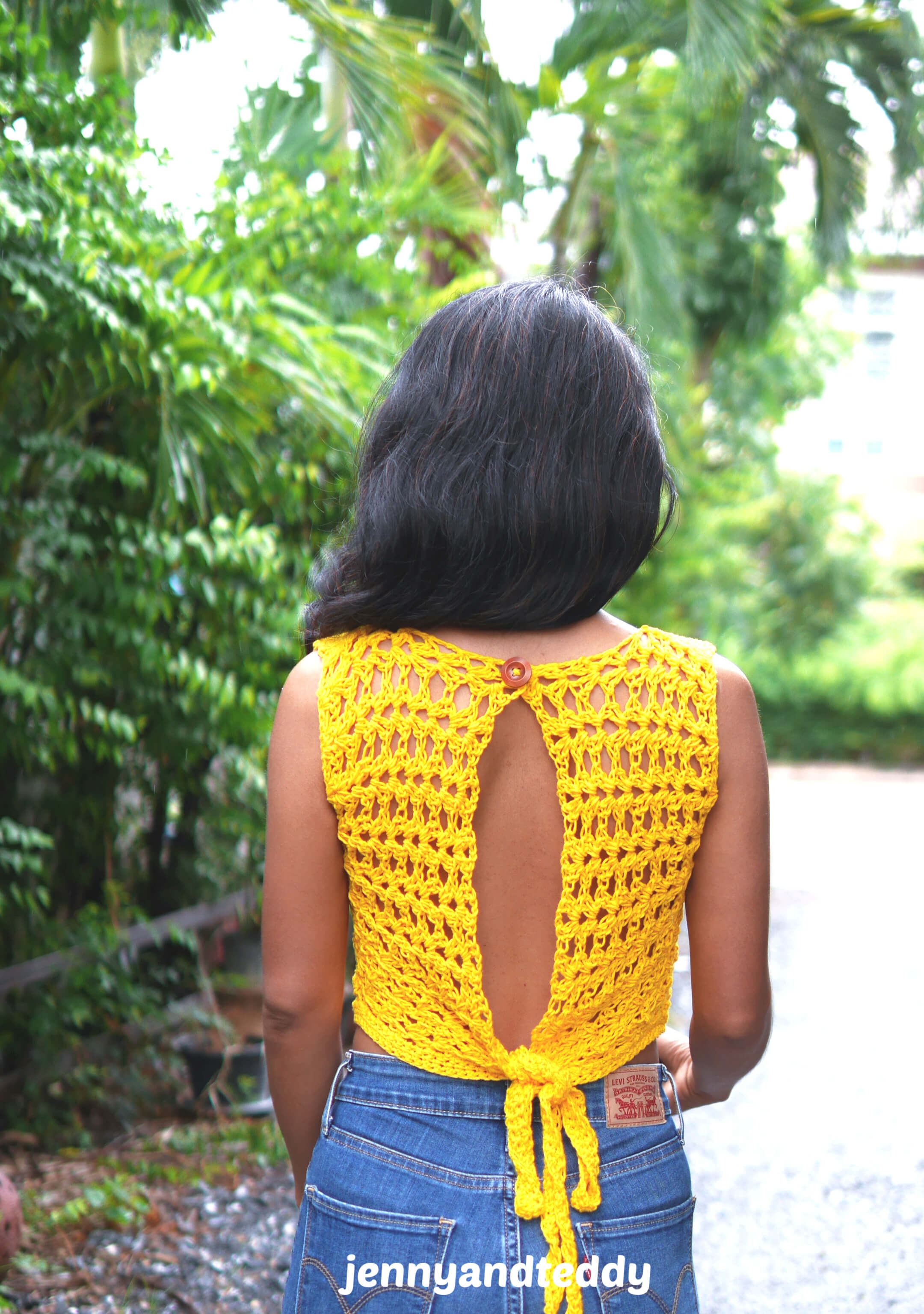 sunflower crop top crochet tutorial