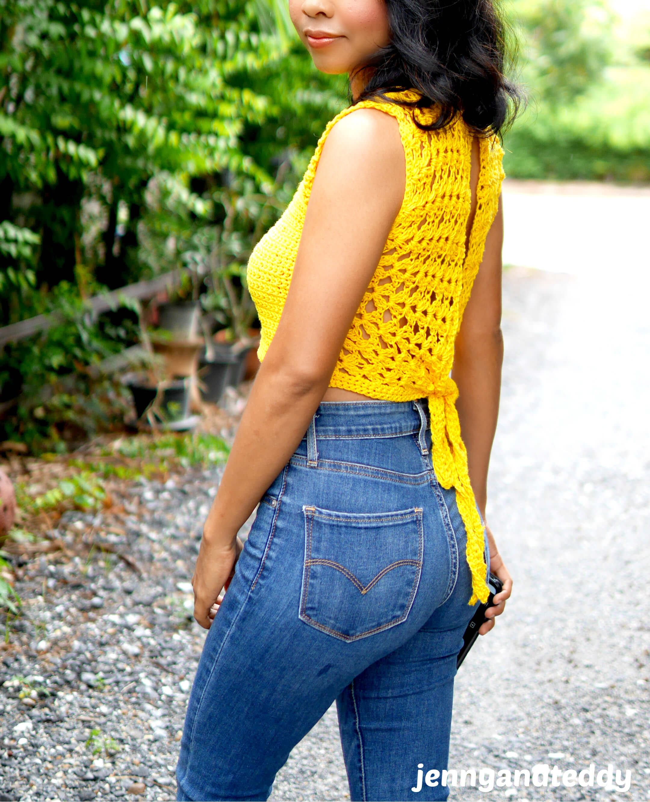 crochet tutorial sunflower crop top