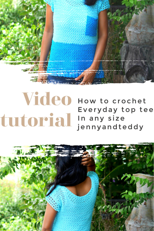 everyday crochet top tee free pattern