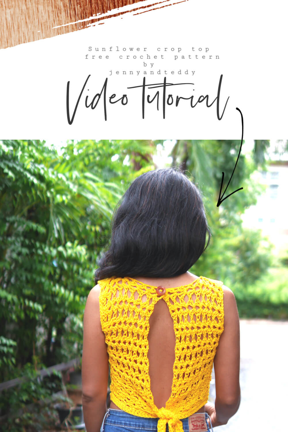 sunflower croptop free crochet pattern