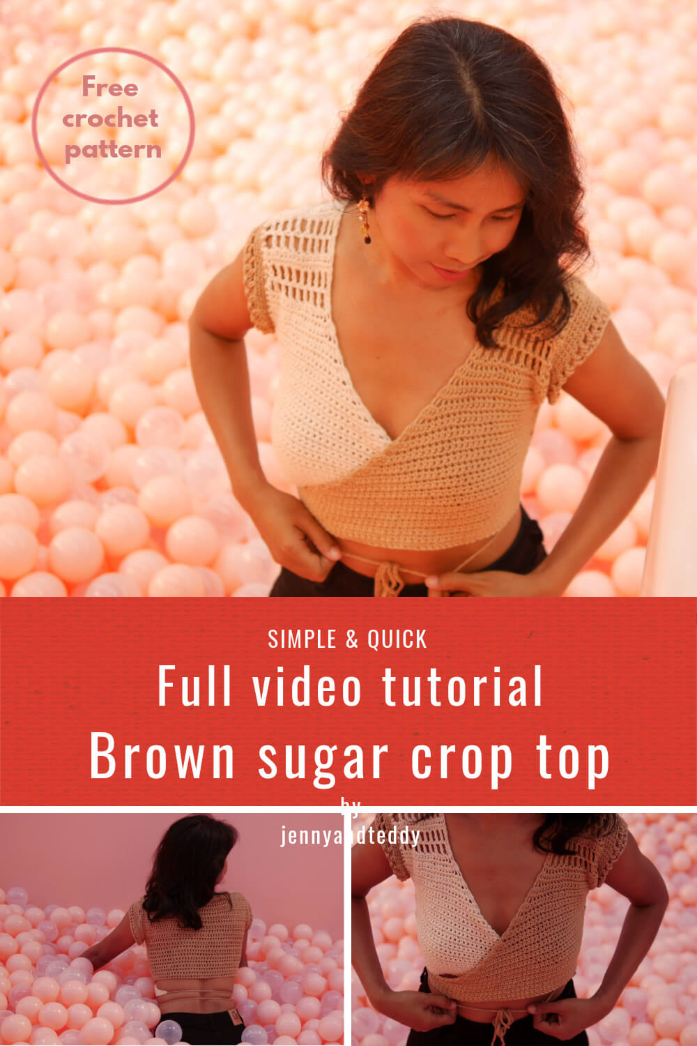 quick and easy crochet crop top for beginner