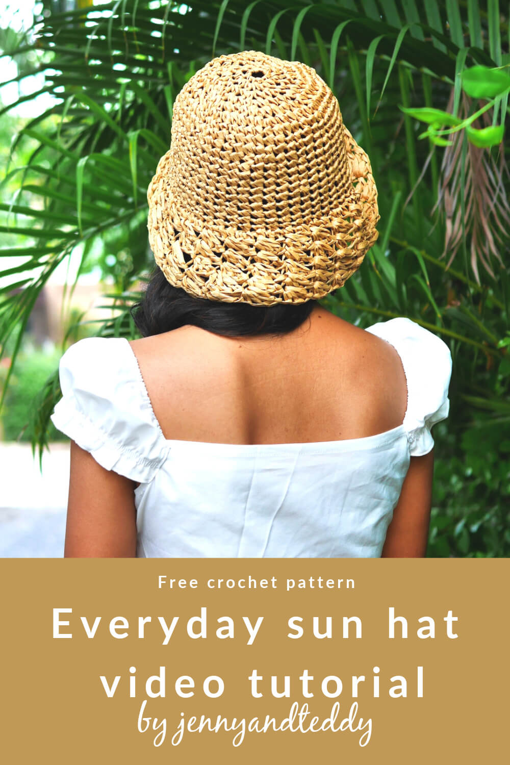 simple crochet everyday sun hat free tutorial
