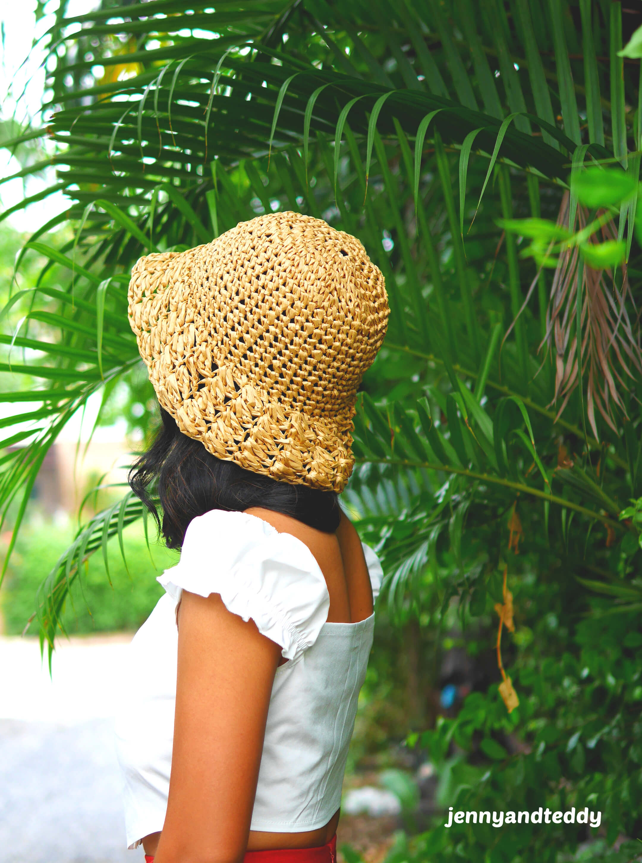 simple crochet everyday sun hat