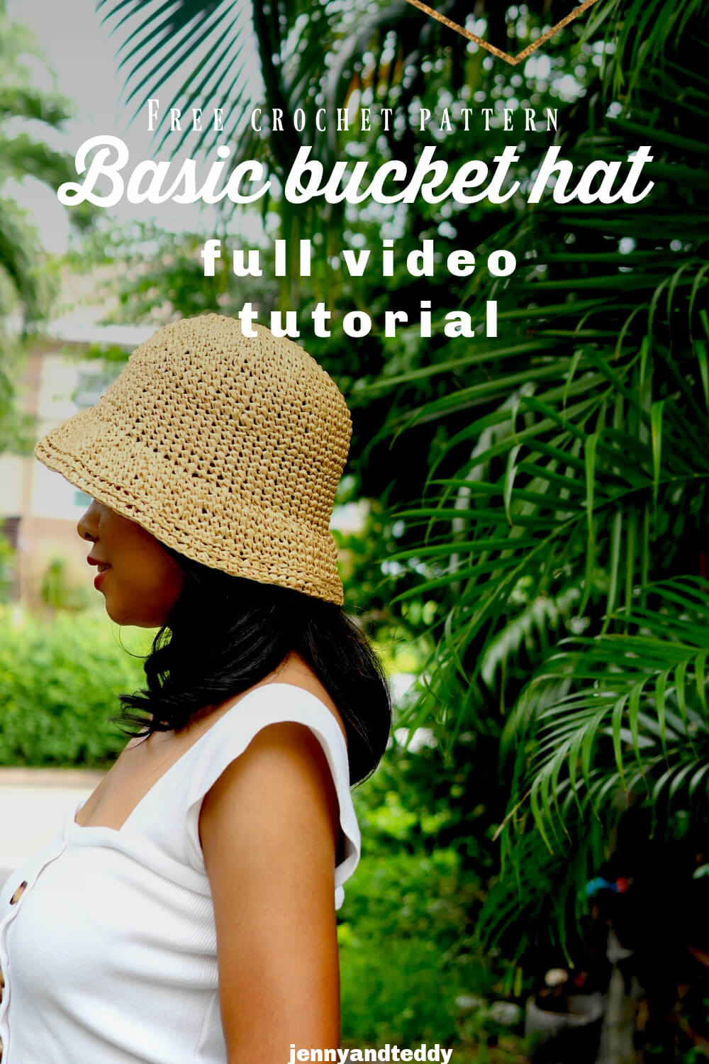 basic crochet bucket hat free crochet pattern