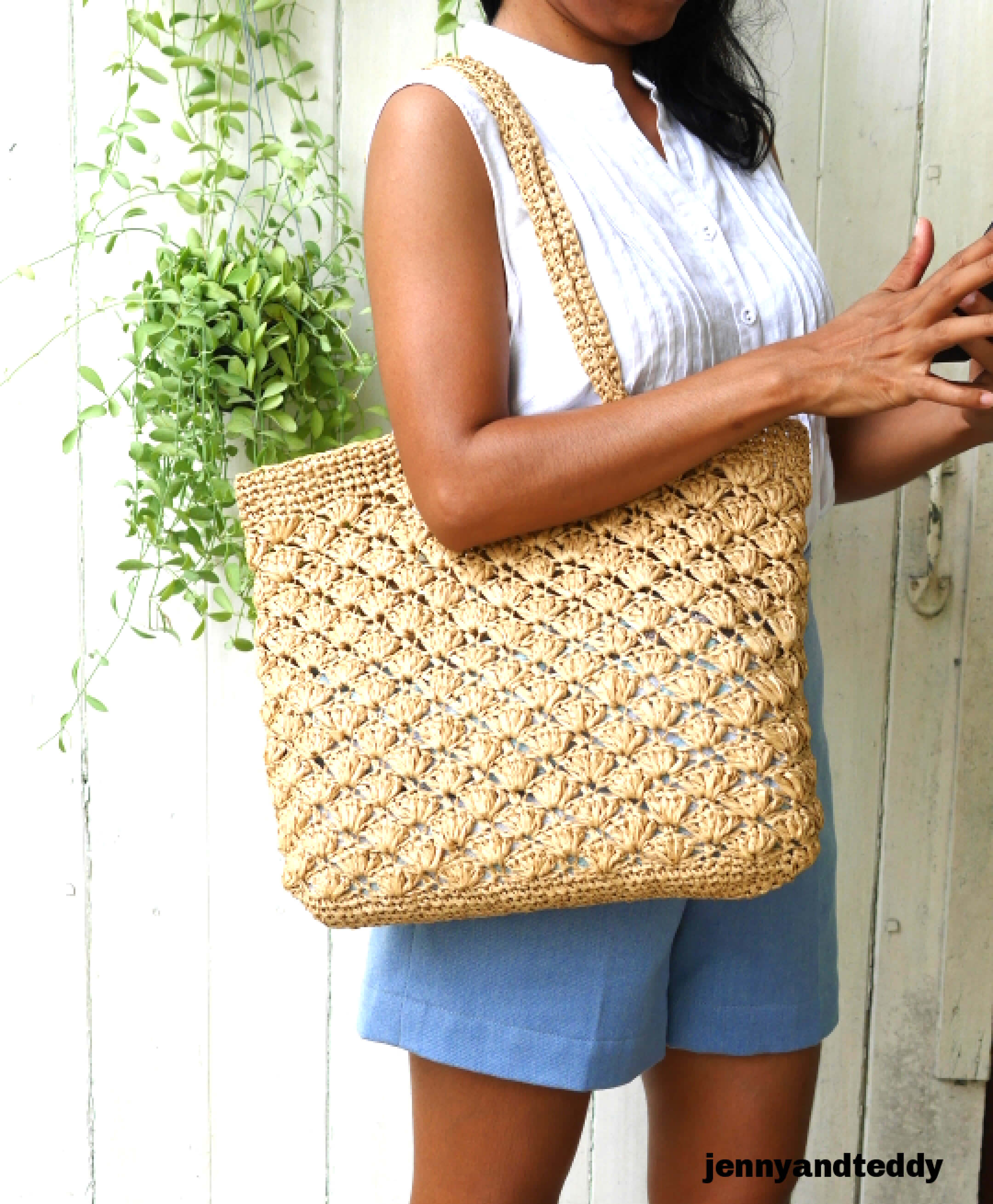 raffia bag crochet tutorial with video
