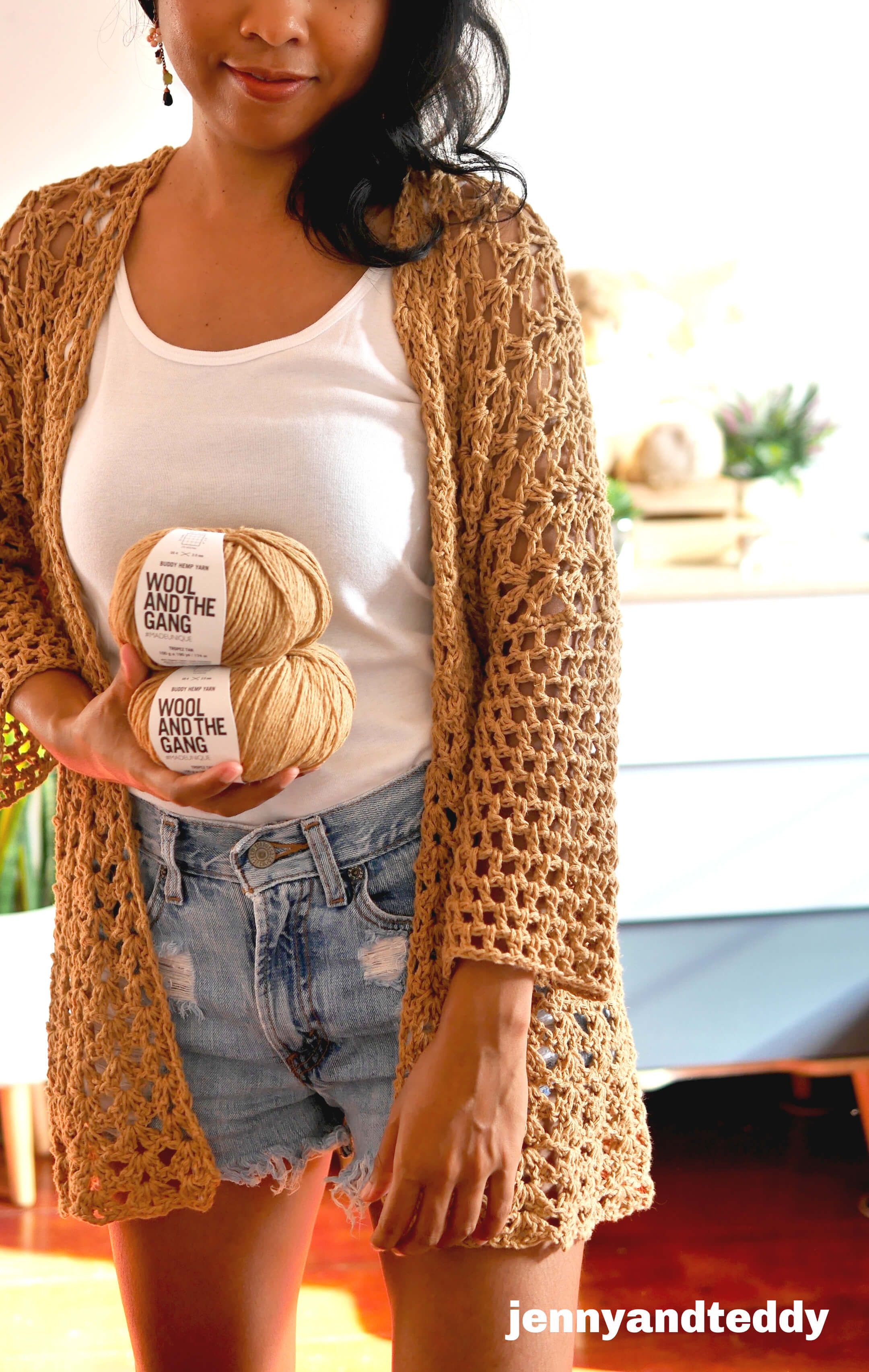 beginner summer crochet cardigan