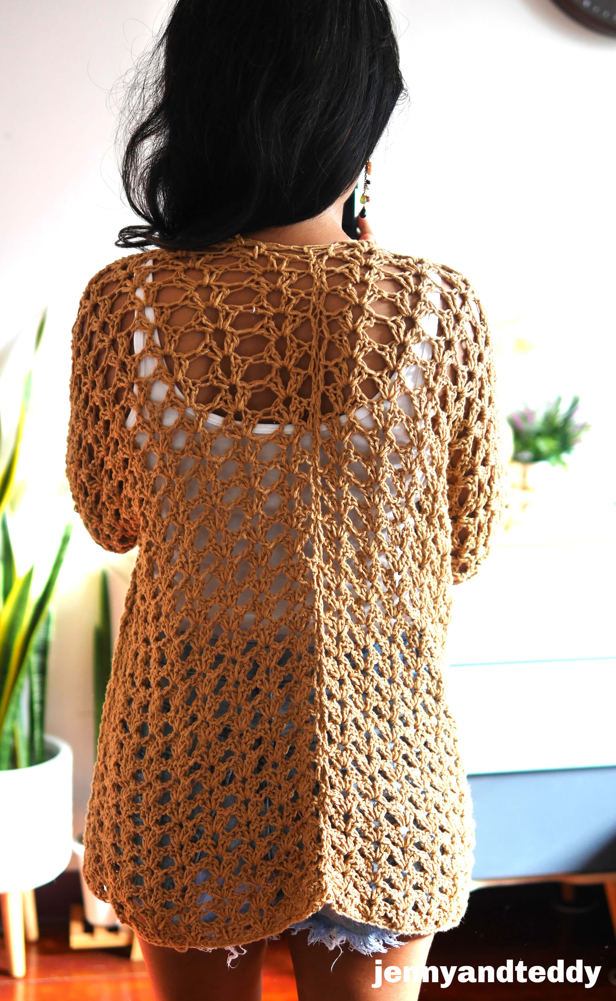 easy summer cardigan free crochet pattern