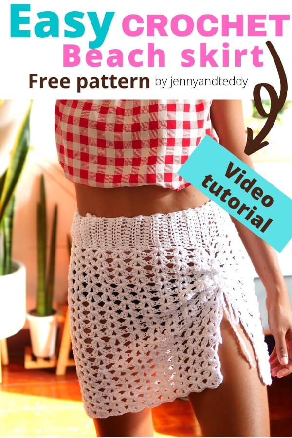 simple crochet skirt cover up free pattern