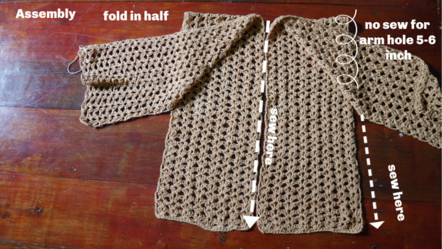 crochet summer cardigan free pattern