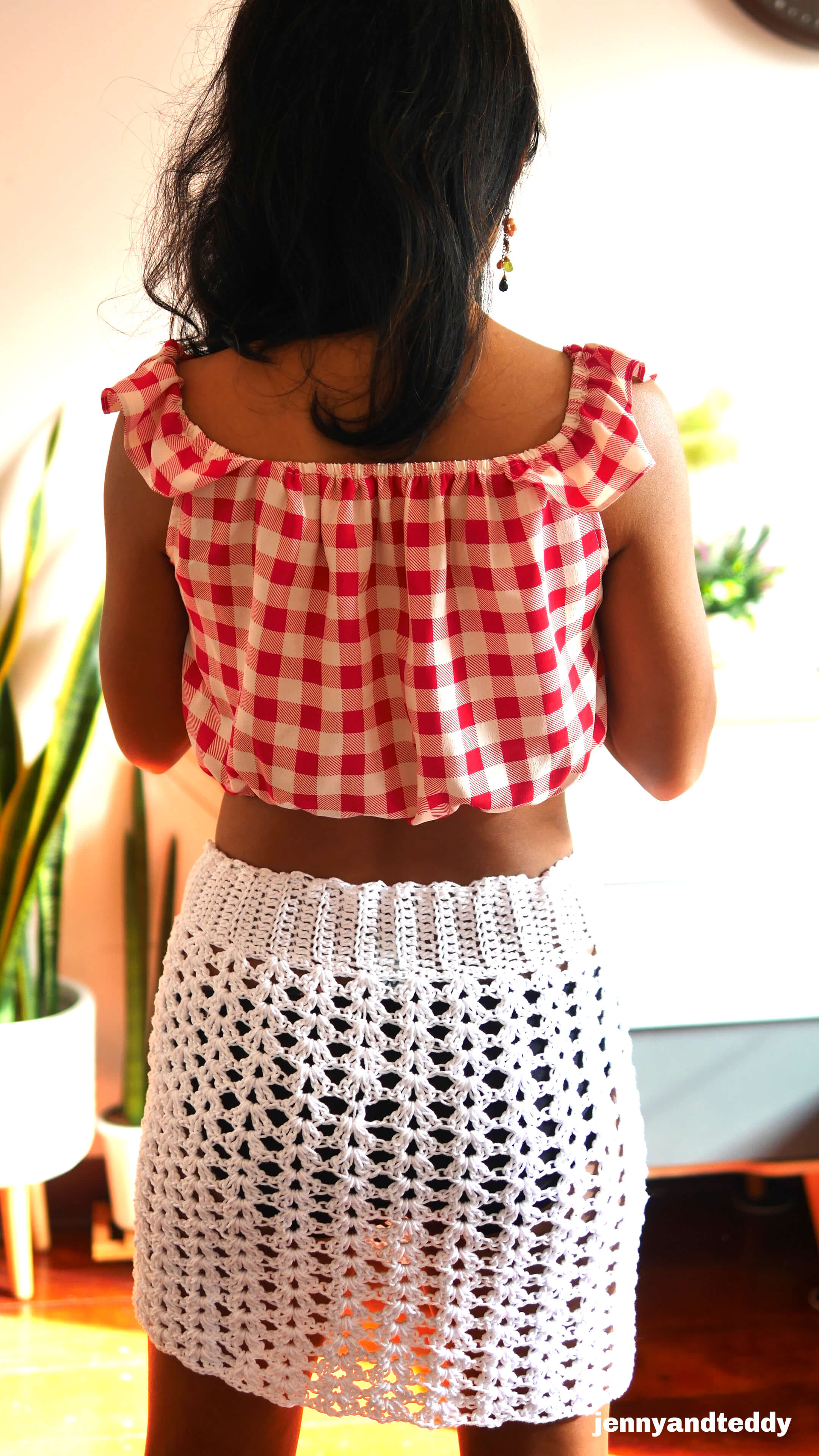 easy crochet skirt free pattern and video