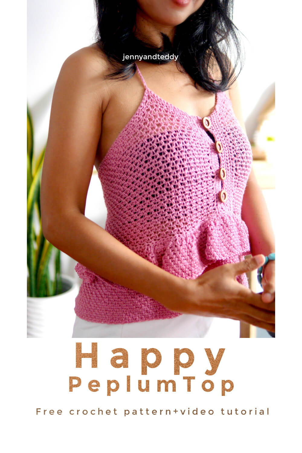 happy peplum top free crochet pattern