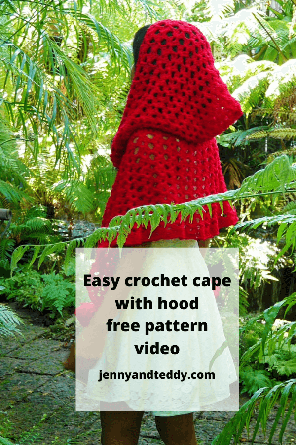 crochet cape with hooded for all size step by step video free crochet pattern.