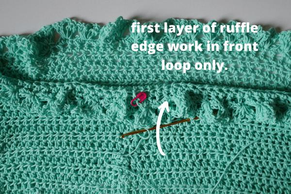 frist layer of ruffle edge
