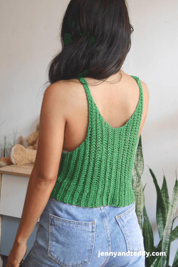 easy crochet summer vibes tank top free crochet pattern.